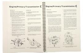 Norton Commando 750-850 genuine workshop manual in binder (06-5146)