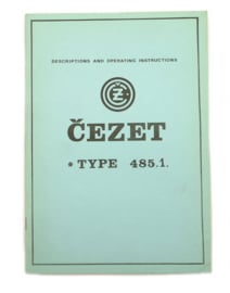 CZ 250 Single type 485.1 Workshop manual (English language)