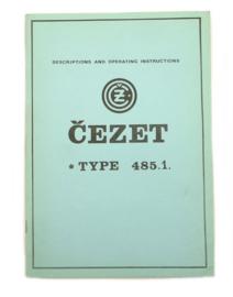 CZ 250 Single type 485.1 Workshop manual (English language)