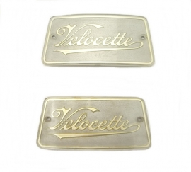 Velocette tank badges (LH + RH) oblong type (KA315/4)