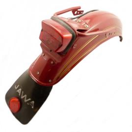 Jawa 350 Twin type 634 Rear mudguard assy c/w taillight etc. (Red) (4519 634 33 00 - 130 - 079)