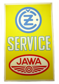 Jawa / CZ Dealer sign 45 x 72 cm