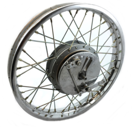 Royal Enfield Bullet 350 - 500 front wheel cplt + twin leading brake plate (143966E / 142850)