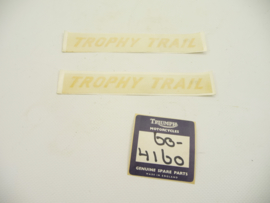 Triumph Trophy Trail TR5T pair of transfers side-panel (replaces part No. 60-4160)