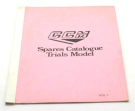 CCM TR 350 Spare parts catalogue