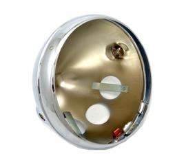 Triumph Lucas type chrome headlamp shell + rim (54115106 / 99-7098)