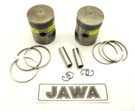 Jawa 360 Twins Piston set o.s. 58.5mm, Partno. 354-12-110 (120)