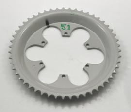 Rear wheel sprocket 51T for spoked wheels only, Partno. 210 56 006