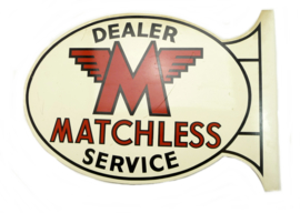 Matchless Dealer sign 49 x 33 cm