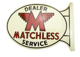 Matchless Dealer sign 49 x 33 cm