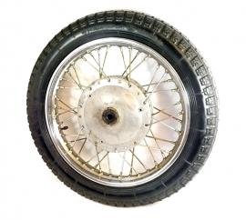 """Ural - Djepnr side-car wheel 19"""" les brake plate complete"""