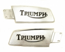 Triumph T150 petrol tank badges genuine part (82-9360 + 82-9361)