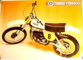 Yamaha YZM 400 genuine poster