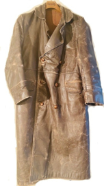 Long leather overcoat for despatch rider Size M