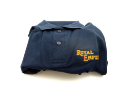 Royal Enfield Polo shirt, blue. Size L