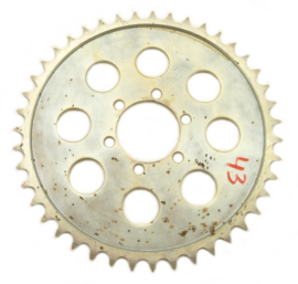 EML sidecar cross Rear wheel sprocket steel,  630 chain 43T