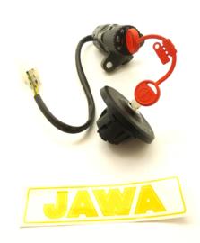 Jawa 639/2 - 640 - 641 Ignition lock + keys & tank cap assembly, Partno. 593-63-230