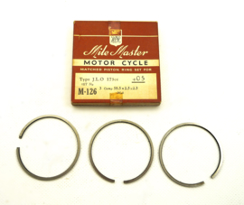 J.L.O. 175cc Piston ring set (M-126 Mile Master)