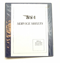 BSA C10 + C11 SV + OHV modells 250 cc workshop manual