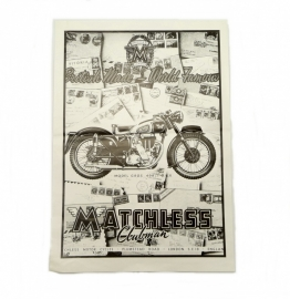 Matchless poster in black and white print