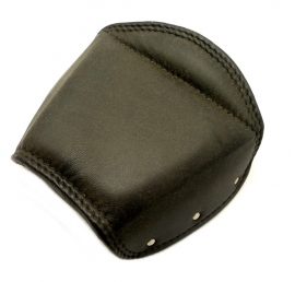 Real leather replacement cover for sprung pillon seat