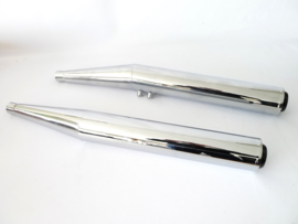 "Triumph Trident T160 Pair of silencers ""Black Cap""  OPN 71-4402"