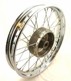 """Jawa / CZ wheel 2.15x18"""" without brake plate (634 56 120 / 487 56 110)"""