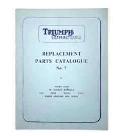 Triumph Tiger Cub T-20- S - SL-T Genuine Parts Catalogue No 7 from 1959