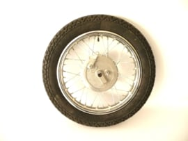 "Velorex sidecar wheel c/w Mitas tyre (3.50-16"") and brake plate complete  620.51.360 + 260"