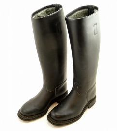 Derby real leather classic type motorcycle boot (size 42)