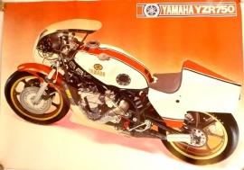 Yamaha YRZ 750 genuine poster
