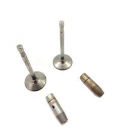 AJS - Matchless  500 Singles - 18 - 18 CS - G80 - G80 CS - G85 CS Pair of valves & guides (026028 - 02-6029 - 02-6030 - 024519)