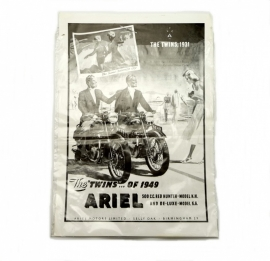 Ariel poster in black and white