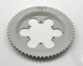 Rear wheel sprocket 57T for spoked wheels only, Partno. 210 56 006
