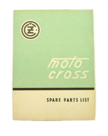 CZ Motocross 125 - 250 - 400 cc Spare parts list for type: 984 - 981 - 980