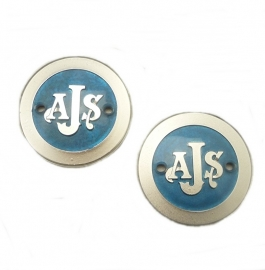 AJS singles & twins pair of tank badges (022520 / 022362)