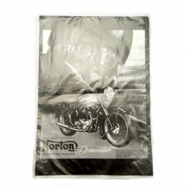 Norton Dominator poster in black and white print