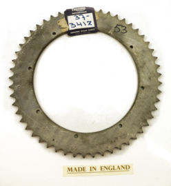 BSA A75 - Triumph T150 Rear wheel sprocket 53T, Partno. 37-3412
