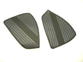 CZ 250 singles & twins, pair of PVC tanktransfers. Kneegrips LH + RH