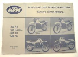 KTM K4-GS-XC workshop manual, Partno. 201.03  10.82