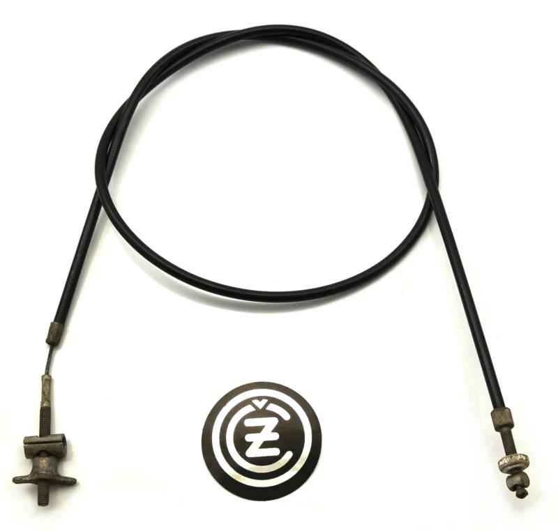 CZ 250/485 Front brake cable cplt, Partno. 451948546015