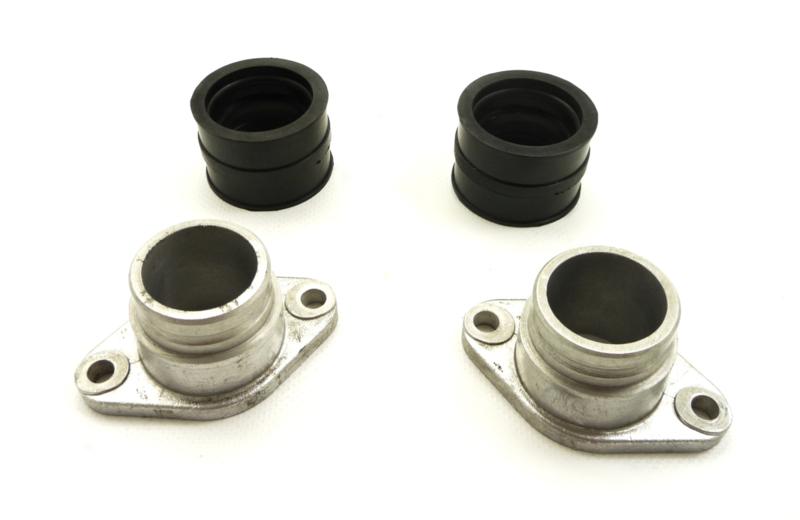 Yamaha XS 650 Alloy manifolds + rubber adaptors (IMI 16/32)