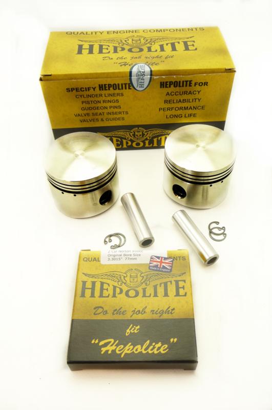 Norton 850 Commando Hepolite pistons (06.3838 etc - 19342)