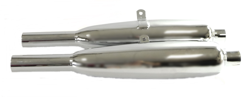 Triumph pre-unit twins, pair of silencers (70-3652)
