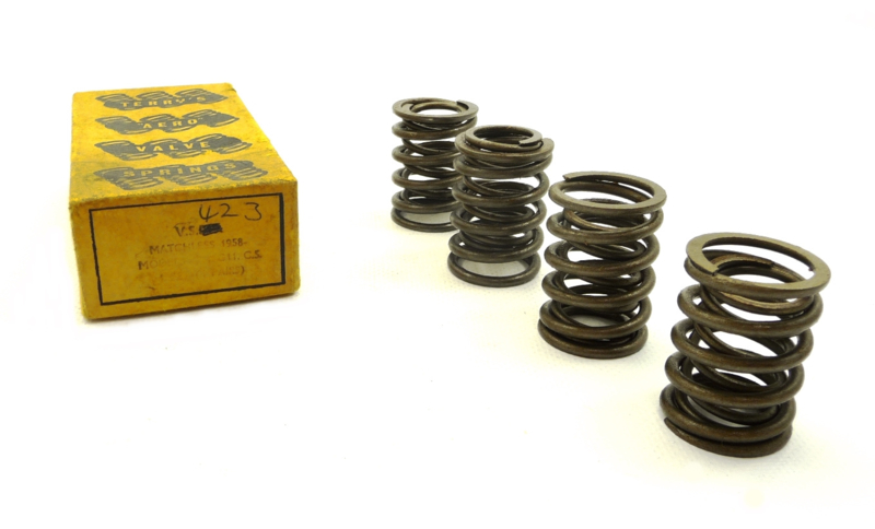 AJS-Matchless 500 Twins, set of valve springs (8) (VS423 Terry)