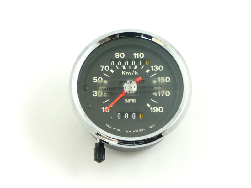 Smiths Speedometer KMH 190 | twins - frame parts