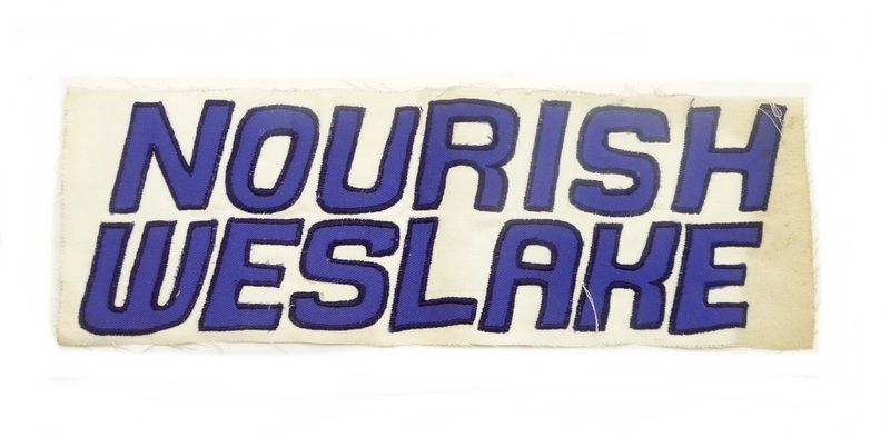 Nourish - Weslake cloth badge for overalls & jackets (36x12 cm)