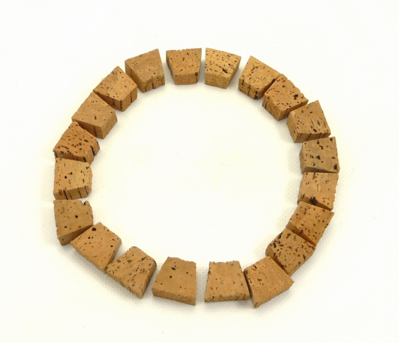 Set of 20 cork inserts for clutch