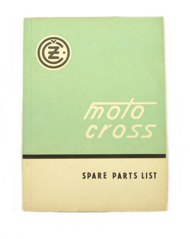 CZ Motocross 125 - 250 - 400 cc Spare parts list for type: 984 - 981 - 980