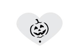 Mini stencil halloween pompoen